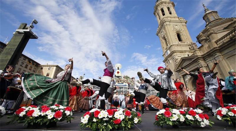 Ofrenda de flores de las fiestas De Él Pilar 2015